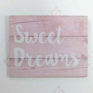 NoJo Chantilly SWEET DREAMS Distressed Pink Wood W